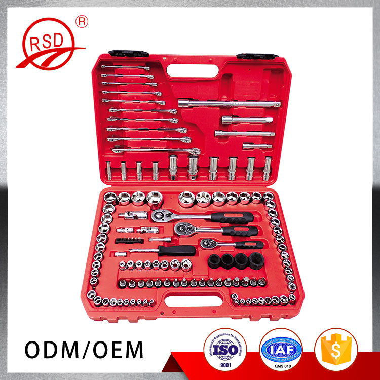 121pcs Metric Hand Tools Auto Repair Tools Set 3/4 Socket Sets