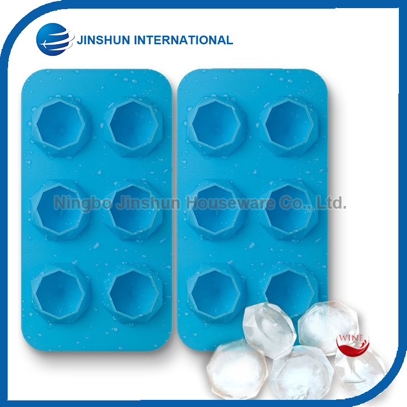 Diamond Ice Cube Trays Silicone Mold For Diamond Shaped Ice