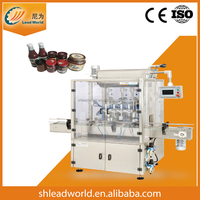 Automatic Glass Bottle Jam Sauce Cream Filling Packing Machine packing line Shanghai factory CE approved