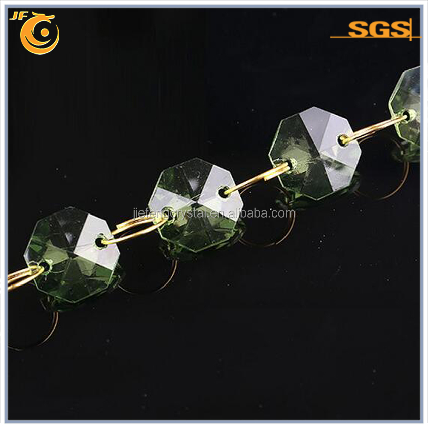 China Wholesale octagon crystal for 14mm octagon crystal with 2 holes