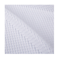 China factory direct sales customized white polyester mesh warp knitting fabric cloth for apparel dress