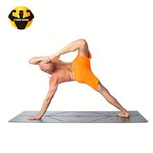 RAMBO Laser Engraving Line Position Pu Padmat High Quality Natural Rubber Yoga Mat