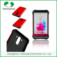 Multicolor Alibaba TPU+PC 2 in 1 dual layer case with cool armor for lg g3 phone case
