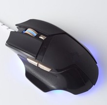 Professional aluminum backlit brand name computer mouse gaming