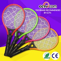 Rechargeable eco-friendly electric mosquito racket with LED