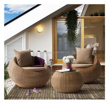 Sigma rattan round outdoor furniture wicker patio sets can sofa chairs