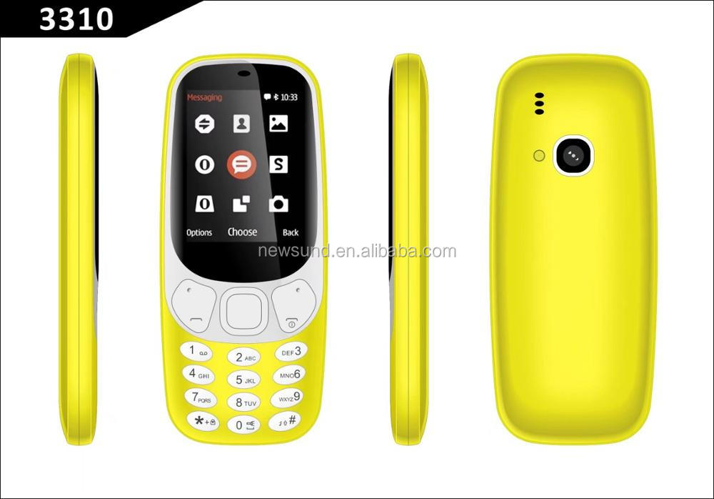Feature Phone 1.8 inch Chinese Mobile Phones support FM radio dual sim card unlocked cell phone 3310