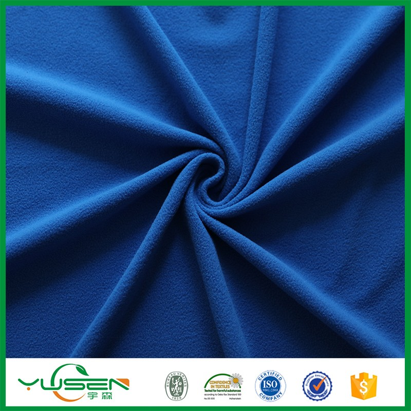 Hot selling 100% polyester Blue Fur Fabric