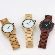 2016 latest wood wrist watches with Japan quartz movement YD0281