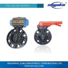 PVC Plastic DIN Flange connection Butterfly valve
