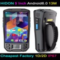 HIDON 5 Inch RFID PDA Handhelds Android5.1 OS Rear-Facing 8.0M Camera 2G RAM+16G ROIM GPS/Beidou 1D Scanner