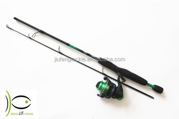 2015 attractive green blue, pink, red colors fishing rod and reel combo