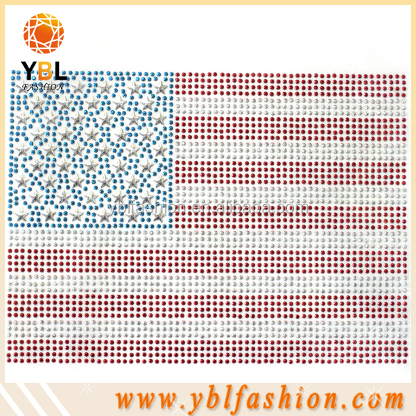 Hot Sale Wholesale Strips hot Fix Rhinestone Motif for clothes