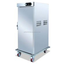 Mobile Commerial Stainless Steel Electric Food Warmer Cabinet with 11 Layers or 22 Trays