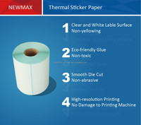 Self adhesive 4x6 Inch Direct Thermal Sticker Paper Direct Thermal Transfer Printed Label
