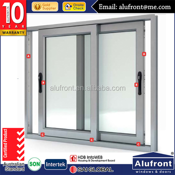 High Quality UPVC sliding windows for energy saving and acoustic