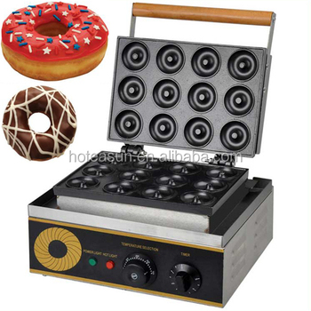 Hot Sale Commercial Use Non-stick 110v 220v Electric 12pcs Doughnut Donut Baker Machine