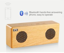 portable retro speaker 3D stereo wooden speaker mini wireless audio Mobile phone stand speakers