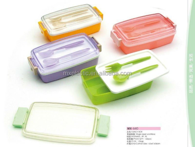 single-layerdesign plastic lunch box clear plastic box
