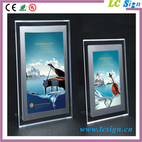 Customized clear acrylic material Interior decoration used crystal led panel light box