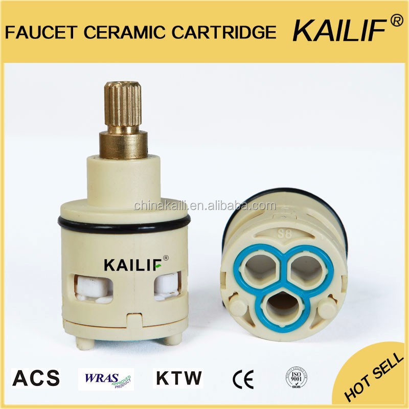Kaili Faucet Ceramic Cartridge Diverter 22mm Side-outlet Ceramic Faucet Tap Cartridge