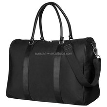 High-end custom overnight PU leather duffel bag