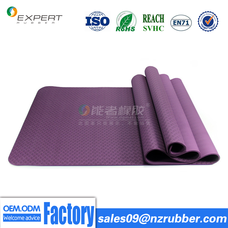 Yoga Mat factory customize TPE yoga mat by eco natural rubber fitness mat