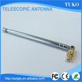 Handheld 210mm closed length vhf omni directional 3 sections fm radio telescopic antenna