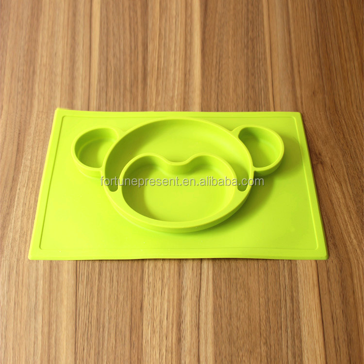 Animal shape Baby Feeding Plate , Silicone Baby Feeding plate , Silicone table placemat for kids