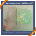 Best-selling transparent hologram stickers id hologram overlay