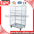 foldable and stackable roll cage trolley
