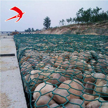 Galvanized PVC coated gabion basket anping hexagonal type stone cage dipped plastic mesh