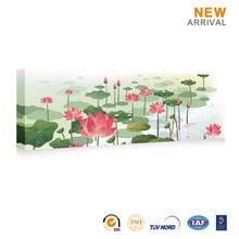 Chinese Wholesale Beautiful Custom Lotus Pond Oil Painting