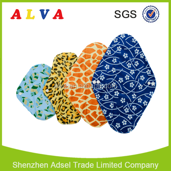Alva Reusable Washable Female Bamboo Charcoal Menstrual Pad Cloth Sanitary Pad