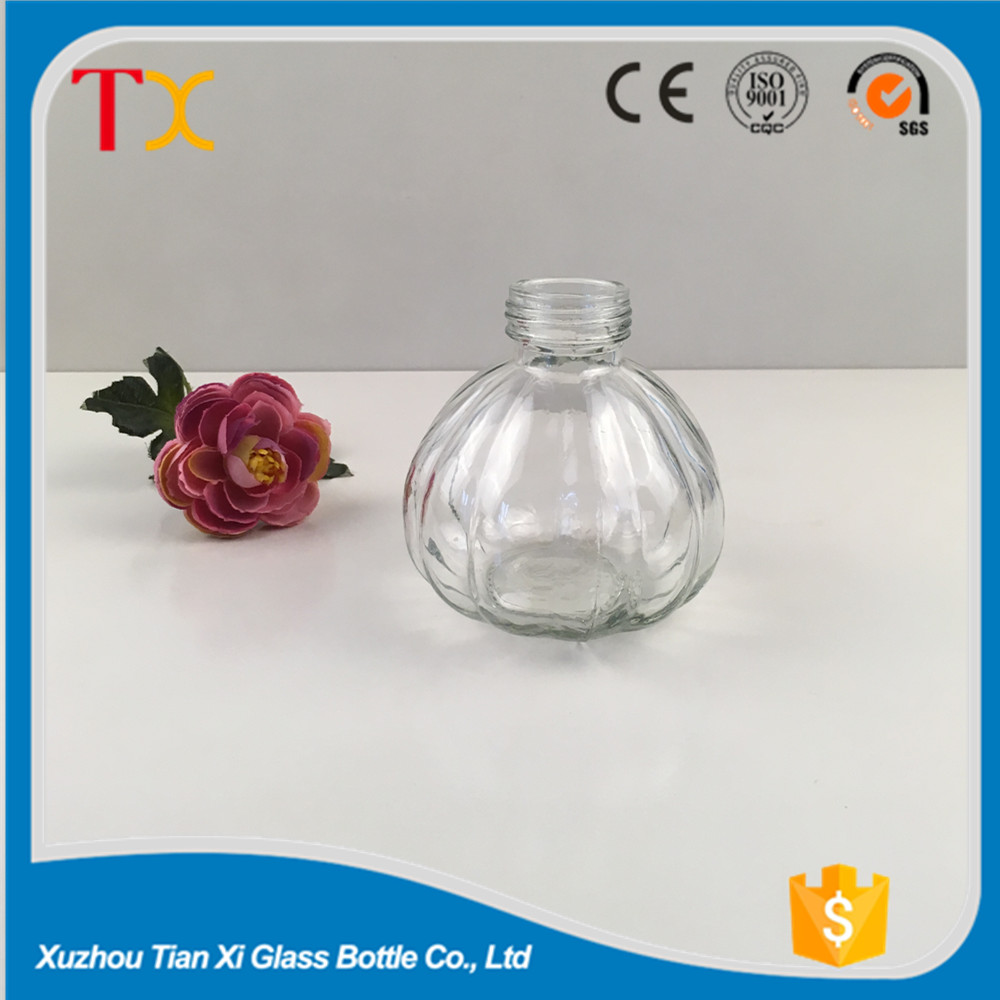 250ml pumpkin shaped clear color candle glass bottle