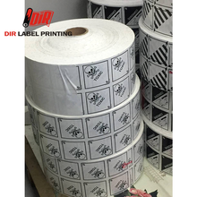 Printing Custom waterproof warning vinyl roll adhesive label sticker paper
