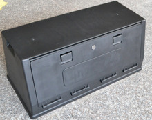 high quality black plastic toolbox for vehicle