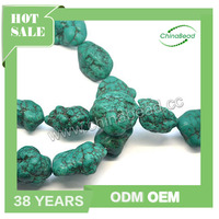 Factory sell turquoise Sinkiang beads with vein gemstone nugget