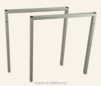 furniture legs office table legs powder coated grey office desk legs 10006P4
