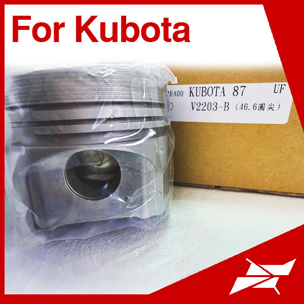 V2203 87MM piston for Kubota engine tractor with pin