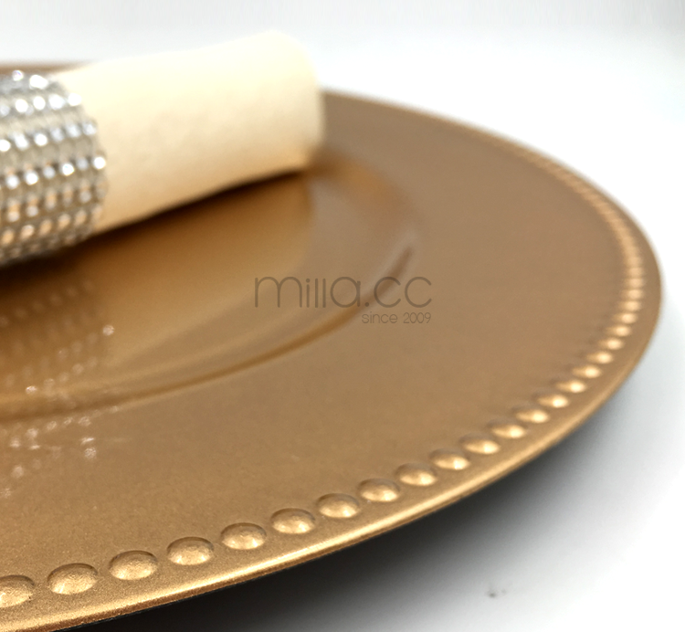 Wholesale cheap wedding gold charger plates