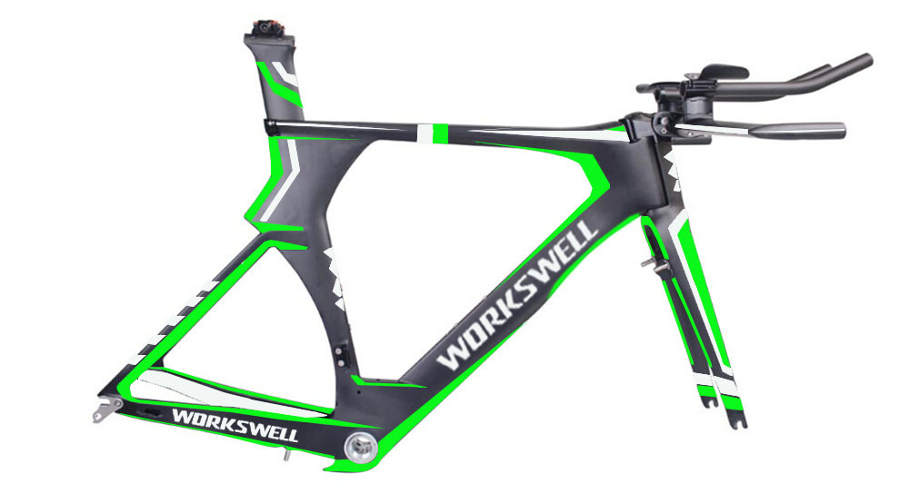 Beautiful carbon TT frame new arriving Time trial,new racing bike frame matte size customized