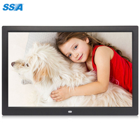 Factory direct supply 15 inch digital photo frame 15 inch trendy christmas lcd digital media advertising photo frame