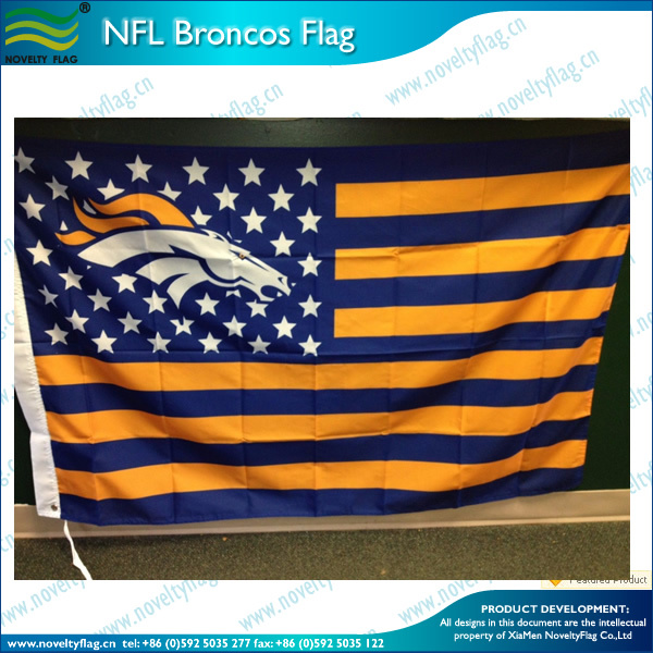 NFL Broncos with USA flag