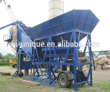 40m3/h production capacity mobile concrete batching plant computer control mobile concrete plant manufacturer in russia