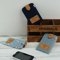 LANGUO factory offer popular jean cell phone cover model:NZSJ-416