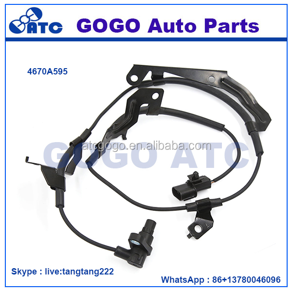 <strong>Front</strong> Left ABS Wheel Speed Sensor 4670A595 Fit For Mitsubishi <strong>L200</strong> 2012-2015 OEM 4670A877