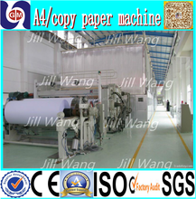 2100mm 30tpd a4 computer copy paper making machine diagram video pictures