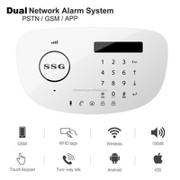 T6-L LCD Screen Touch Pad PSTN GSM Smart Wireless Burglar Alarm System Home Security