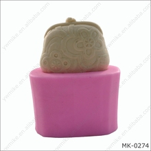 3D change purse fondant cake ornamental decoration tool handmade soap silicone mold